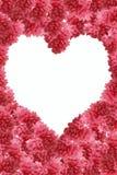 Trame de fleur de pêche au coeur de forme Photo stock