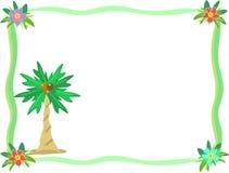 Trame de fleur de palmier et de ketmie Photographie stock libre de droits