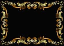 Trame de fond avec la configuration végétale de l'or (en) Image stock