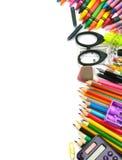 Trame de fournitures de bureau d'école et Photo stock