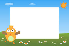 Trame de gosse - oiseau Image libre de droits