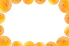 Trame de haute résolution décorée des fruits oranges Photographie stock libre de droits