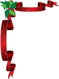 Trame de houx de Noël Photographie stock