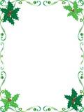 Trame de houx de Noël Images libres de droits