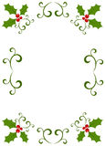 Trame de houx de Noël Photos stock