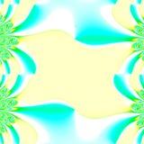 Trame de jaune et d'Aqua Photos stock