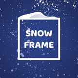Trame de l'hiver Fond de chutes de neige Élément de conception pour votre conception de Noël Photographie stock libre de droits