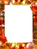 Trame de lumières de Noël Images stock