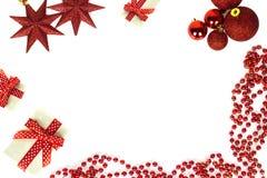 Trame de Noël d'isolement sur le fond blanc Images stock