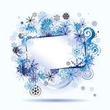 Trame de Noël, flocons de neige. Photo libre de droits