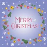trame de Noël joyeuse Bannière de vacances Photo stock