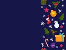 trame de Noël joyeuse Bannière de vacances Image stock