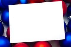 Trame de Noël pour des félicitations Photographie stock