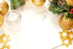 Trame de Noël pour la carte de voeux Images stock