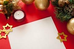 Trame de Noël pour la carte de voeux Photographie stock libre de droits