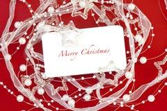 Trame de Noël pour la salutation Photos libres de droits