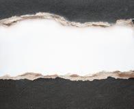 Trame de papier avec les bords fragmentaires Images libres de droits
