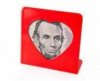 Trame de photo avec la verticale d'Abraham Lincoln Photos libres de droits