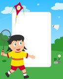 Trame de photo de fille de badminton Illustration de Vecteur