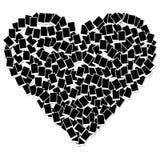 Trame de photo de forme de coeur d'isolement sur le blanc Photographie stock libre de droits