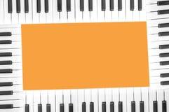 Trame de piano Image libre de droits