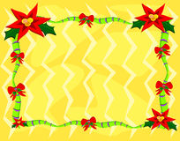 Trame de poinsettia de Noël Photos stock