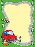 Trame de route avec le petit véhicule illustration stock