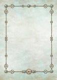 Trame de Steampunk avec des pierres gemmes Image stock