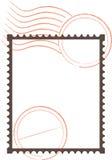 Trame de timbre-poste illustration stock