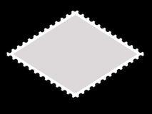 Trame de timbre-poste de forme de parallélogramme Image libre de droits