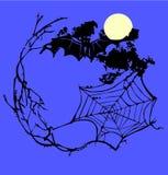 Trame de toile d'araignée Image libre de droits