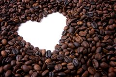 Trame de valentine de café Photo stock