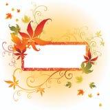 Trame de vecteur avec des lames d'automne. Action de grâces Images stock