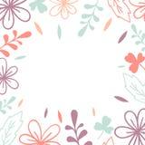 Trame de vecteur Fleurs et feuilles roses et violettes Illustration pour épouser la carte d'invitation, copie illustration de vecteur