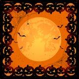 Trame de Veille de la toussaint avec des potirons Image libre de droits