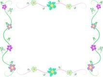 Trame des fleurs et des lames de ketmie illustration stock