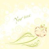 Trame douce de fleur Image libre de droits