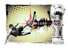 Trame du football Images libres de droits