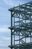 Trame en acier de construction Images libres de droits