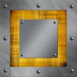 Trame en aluminium et vieux parchemin Image stock