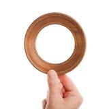 Trame en bois à disposition Photographie stock libre de droits