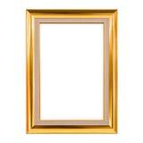 Trame en bois classique d'isolement sur le blanc Photographie stock