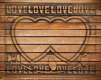 Trame en bois d'amour Photos libres de droits