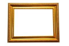 Trame en bois de photo d'or Photo stock