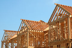 Trame en bois de toit Image libre de droits