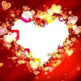 Trame en forme de coeur illustration libre de droits