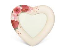 Trame en forme de coeur avec des fleurs Images stock