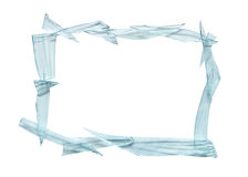Trame en verre cassée Photographie stock libre de droits