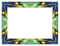 Trame en verre jaune bleue Photo libre de droits