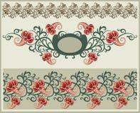 Trame et cadre floraux. Images libres de droits